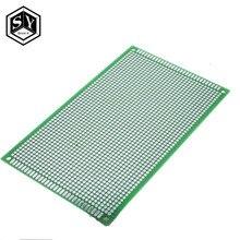 1 шт. Great IT 9*15 9X 15 см двусторонний Прототип PCB универсальная плата медная экспериментальная пластина схема отверстие хлеб доска зеленый