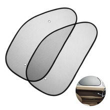 2pcs/pair  Auto Car Side Window Sunshade Mesh Cover With Suction Cup Anti Sun UV Shades Protector for Block Sunlight Heat