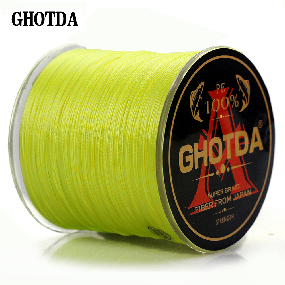300M 8 Weaves PE Fishing Line Braided Multifilament Fishing Line Wide Angle Braided Technology 22 31 39 43 52 61 78LB
