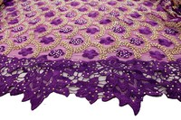 Hottest Selling African Tulle Lace Fabric High Quality Beaded Lace Fabric 3D Embroiery Tulle Mesh Lace