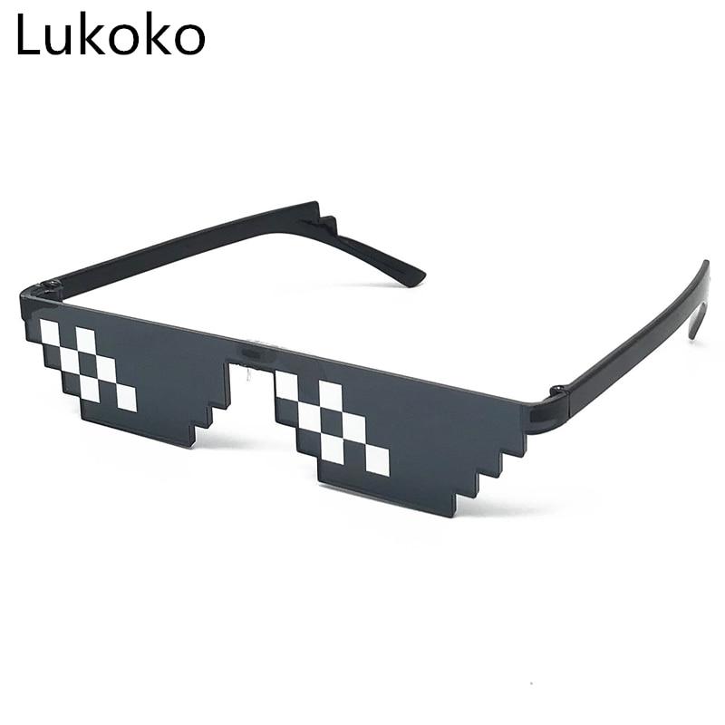 2018 Deal With It Glasses 8 Bit MLG Pixelated Sunglasses Men Women Brand Thug Life Party Eyeglasses Mosaic Vintage Eyewear