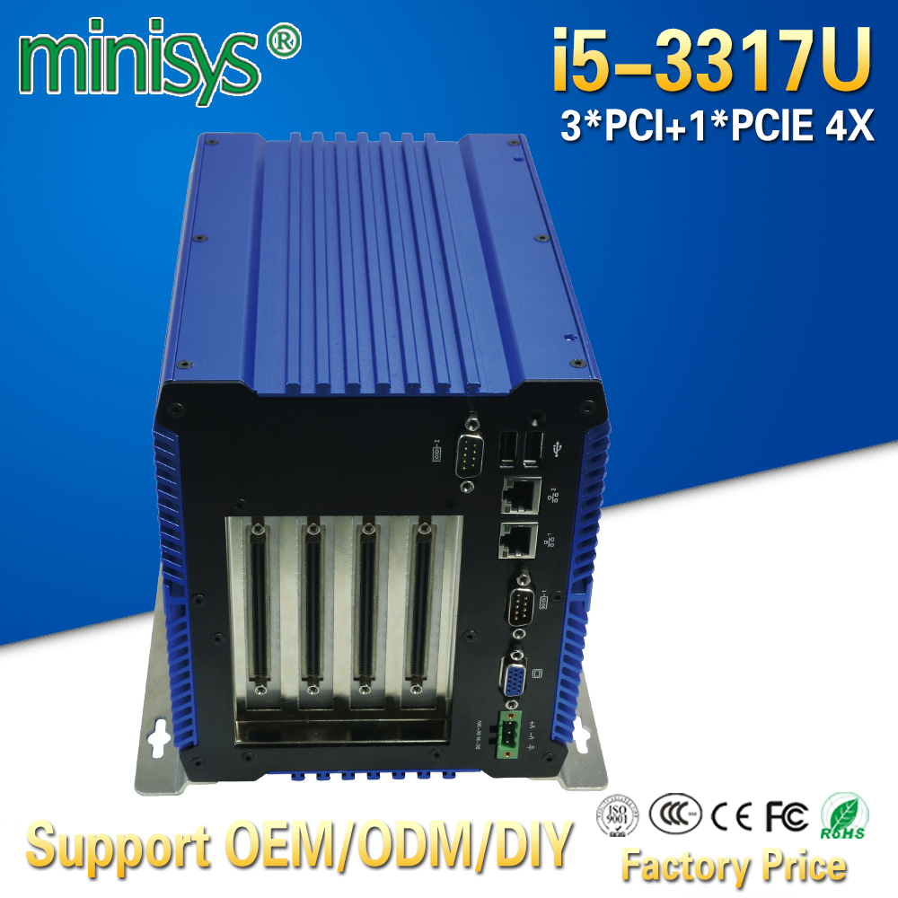 Minisys Onboard 4G Ram Fanless Embedded Pc Intel Core I5 3317U CPU Dual Nic Mini Workstation Box Computer Thin Client Terminal
