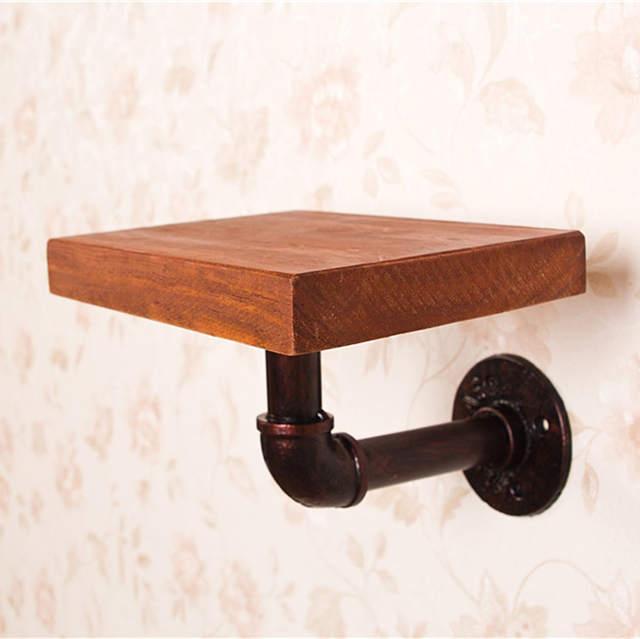 Muur Plank Hout.Us 31 98 18 Off Industriele Vintage Stijl Ijzeren Pijp Boekenplank Muur Opknoping Jas Rekken Plank Hout Woonkamer Meubels Boekenkast In