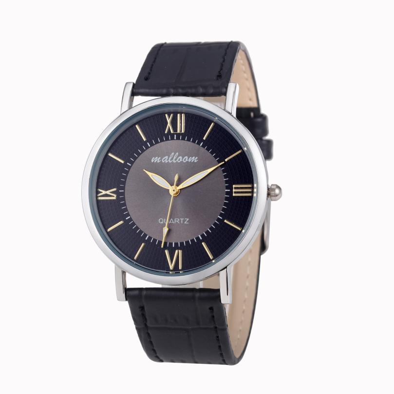 Luxury Brand Men Watch Simple Faux Leather Blue Ray Glass Quartz Analog Watches Luxury Male Clock Gift relogio masculino Z20