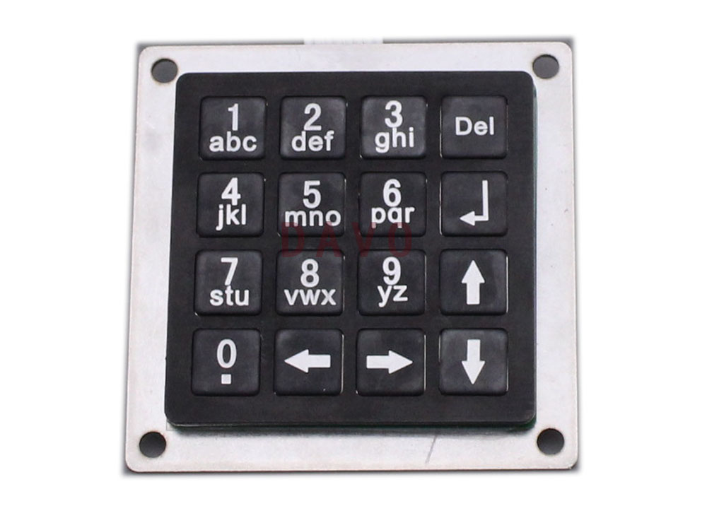 Mini Metal Numeric Keyboard With 16keys Black Stainless Steel Keyboards Matrix Keypads 54x54mm