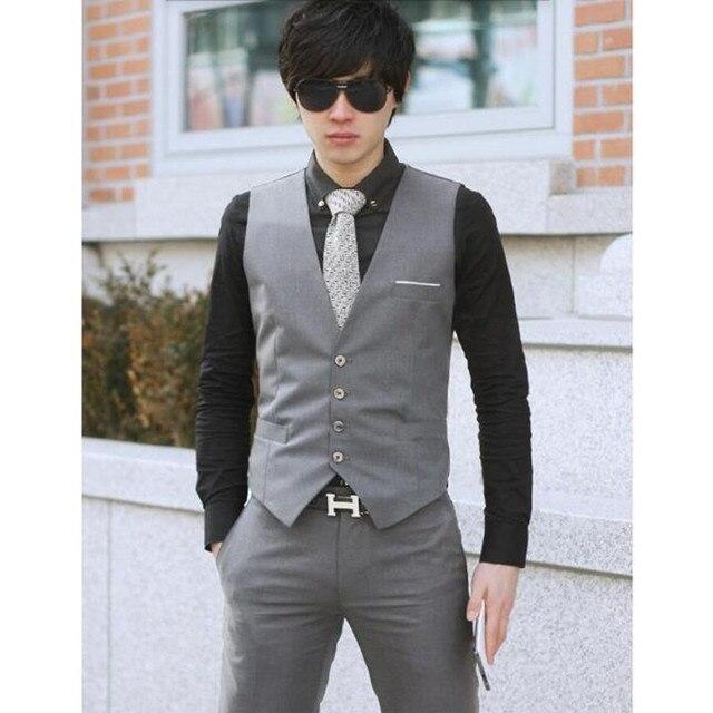 2a2a8a0fac Ocio hombres chaleco superior masculina de los hombres ropa de trabajo  Chaleco Vestido de Partido Formal