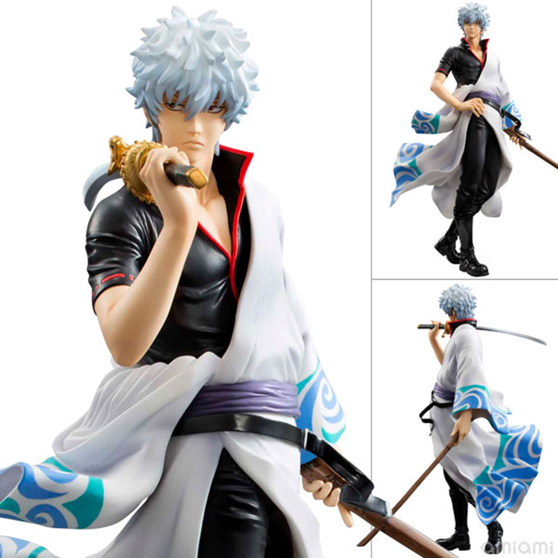 Silver Soul Gin Tama Gintama Sakata Gintoki Brinquedos PVC Action Figure Colletion Model Toys 22cm Free Shipping GS074 средство для удаления накипи topperr 3006