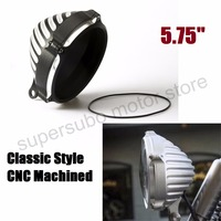 5.75'' Motorcycle edge cut Headlight Cover W/ Bottom Mount For Harley sportster dyna softail Configuration CNC Machined