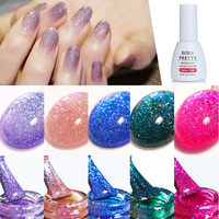 12 Colors BORN PRETTY Soak Off Holographic UV Gel for UV LED Nail Art Gel Polish Varnish Manicure Tips Decoration