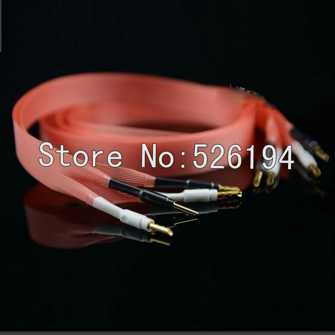 Free shipping pair 24 core Pair Nordost Red Dawn Speaker Audio Cables DIY BFA banana plugs free shipping pair accuphase audio speaker cable with banana plugs connector
