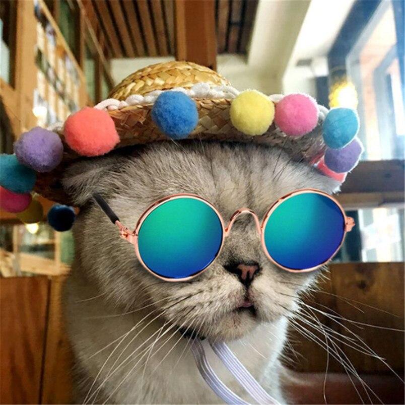 New cat Accessories 1pc Fashion Pet Cat Dog Sunglasses UV Sun Glasses Eye Protection Wear Cats Dogs Sunglasses Pet Sunglass