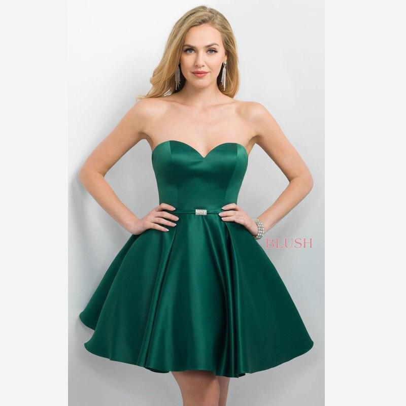 Emerald Green Satin Cocktail Dress Promotion-Shop for Promotional ...