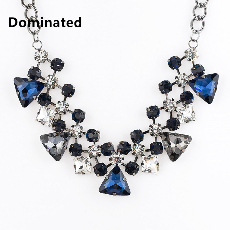 Dominated New Crystal Exaggerated Accessories Decorative Water Drop Clavicle Chain Female
