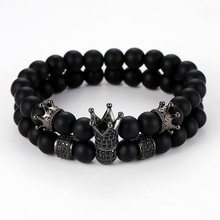 New Fashion Bohemia Crown Bracelet Volcanic Lava Natural Stone Bracelets For Men Jewelry Best Selling 2019 Products Wholesale