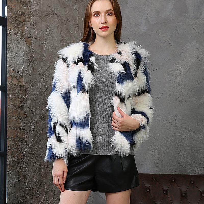 Mode Black En Femelle Veste Femmes Peluche De Fourrure Faux Taille Largerlof Manteau D'hiver Fc57029 wOIZ04Aq