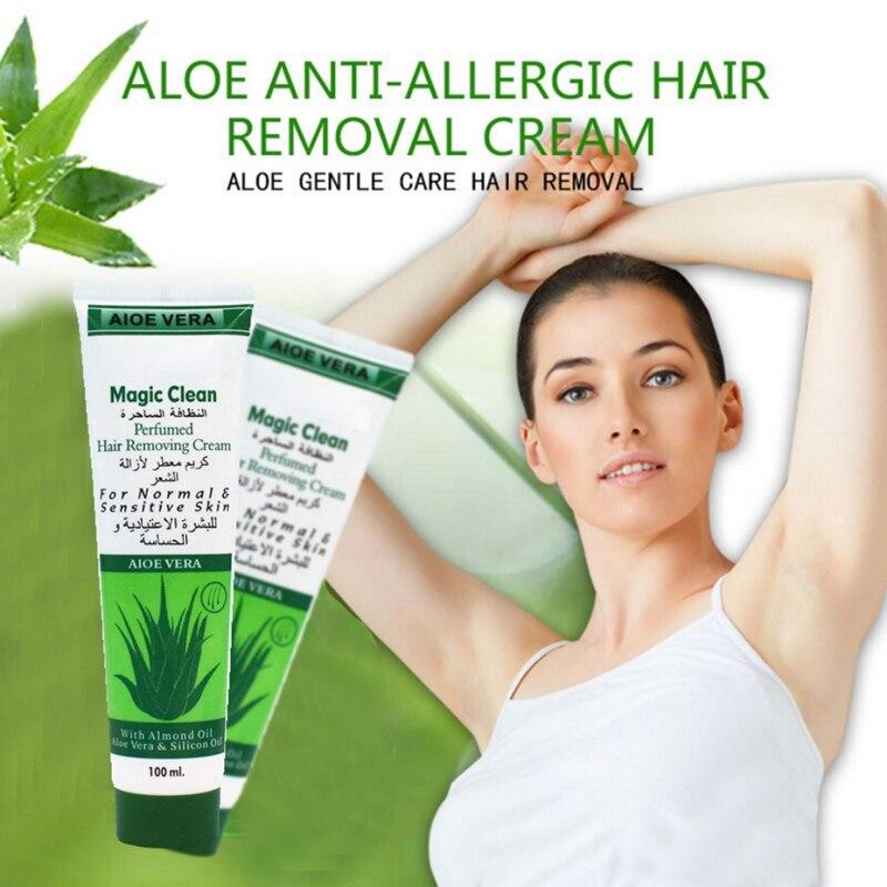 100g Cucumber/Aloe/ Snails Moisturizing Hair Removal Cream Natural Gentle Depilatory Cream Hair Removal 2019 3