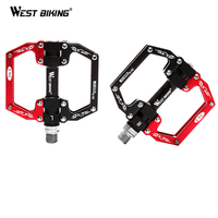 WEST BIKING Bicycle Pedals Platform Cycling Anti slip Mountain Bike Sealed Bearing Pedals Bicycle Accessories MTB Bike Pedals