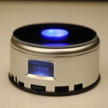 Led カラフルな発光 MP4 音楽 bluetooch ベースライト回転クリスタルディスプレイベーススタンドホルダー