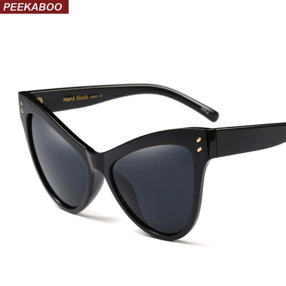 Ciluk ba hitam cat eye sunglasses wanita merek designer 2018 besar  kebesaran kacamata matahari untuk wanita d1d8a9171e
