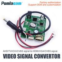 AHD41 10 pçs/lote AHD para HDMI Conversor De Sinal  CVI TVI AHD placa sinal CVBS para HDMI conversor de sinal VGA CVBS suporte OEM