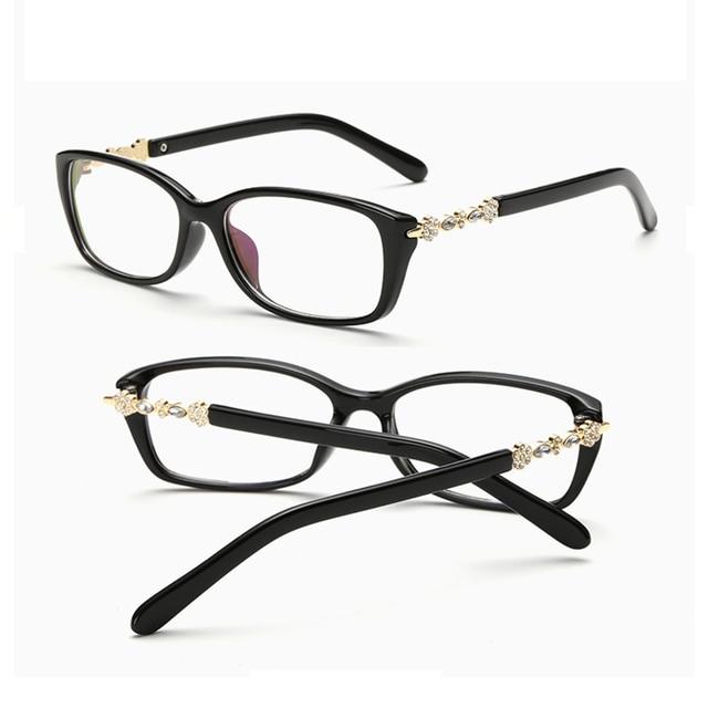 Lucky Lion Square Retro Eyeglasses Diamond Frame Fashion Vintage ...
