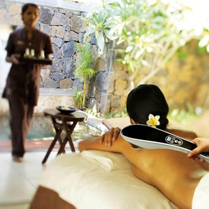 Image 4 - Elektrische Terug Stimulators Percussie Deep Tissue Handheld voor Hals Body Schouders Been Voet Pijnbestrijding Relax Shiatsu Infrarood