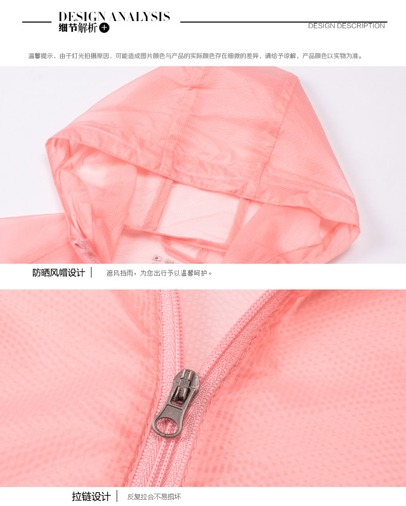 ad2c5a51de4a Summer Sunscreen Clothing Female Sun protective Jacket big size Women  Casual Waterproof Jacket Super Thin uv zipper jacket coat-in Basic Jackets  from ...