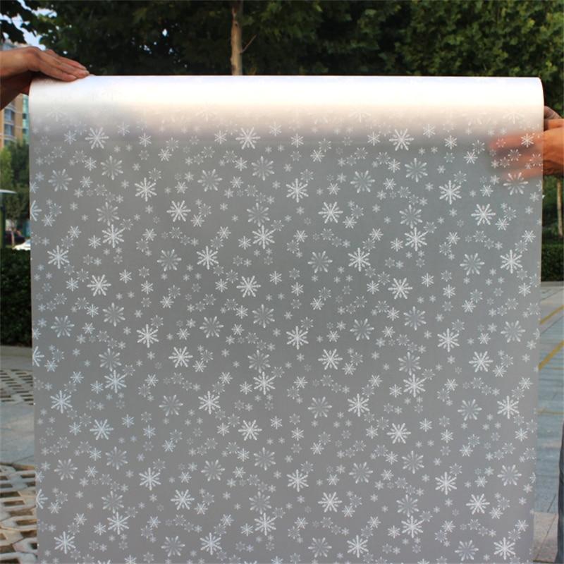 Funlife 80*600 cm Auto-adhésif dépoli cellophane fenêtre papier autocollant film épaississement transparent opaque salle de bains papier autocollant - 4