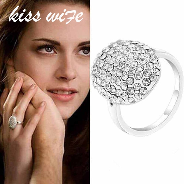 KISSWIFE New Popular Film Twilight Bella Engagement Rings With Full Crystal Fash