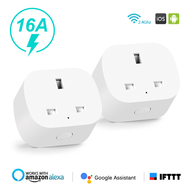 Hyleton Smart Plug Wifi socket 16A AC outlet remote control Timing Function For Smart Phone Voice Control for Home Appliances