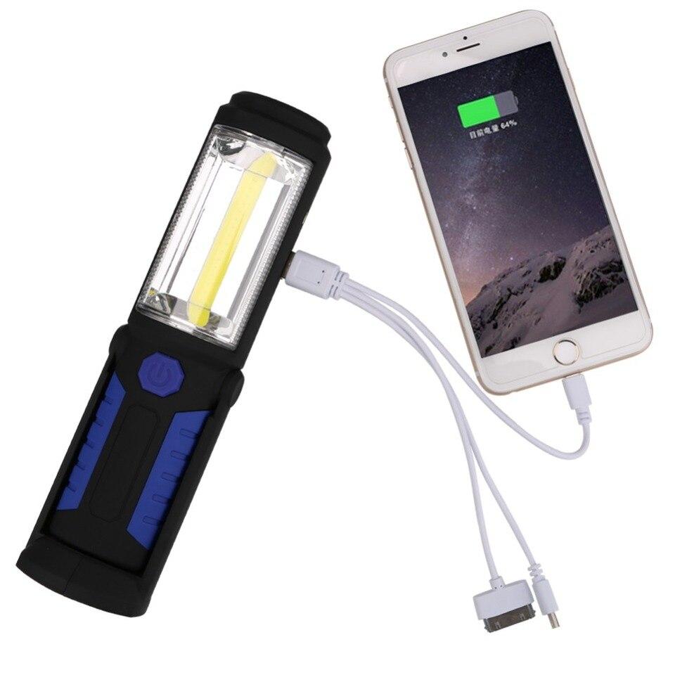 Magnetische COB LED Hut Clip Licht USB Scheinwerfer Taschenlampe mit Magneten DE