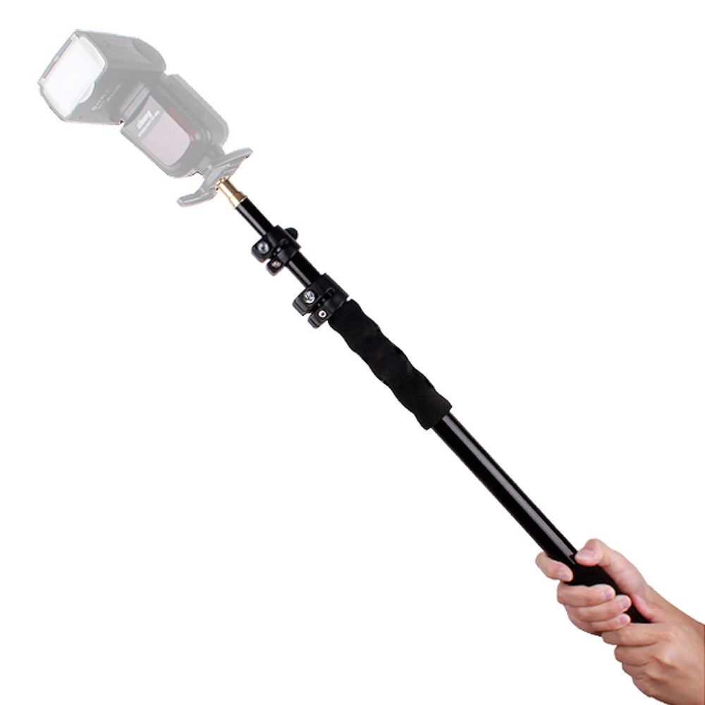 Aluminiumlegering Handheld Hand Held Grip Rig Ondersteuning Rod Flitslicht Speedlite Microfoon Houder