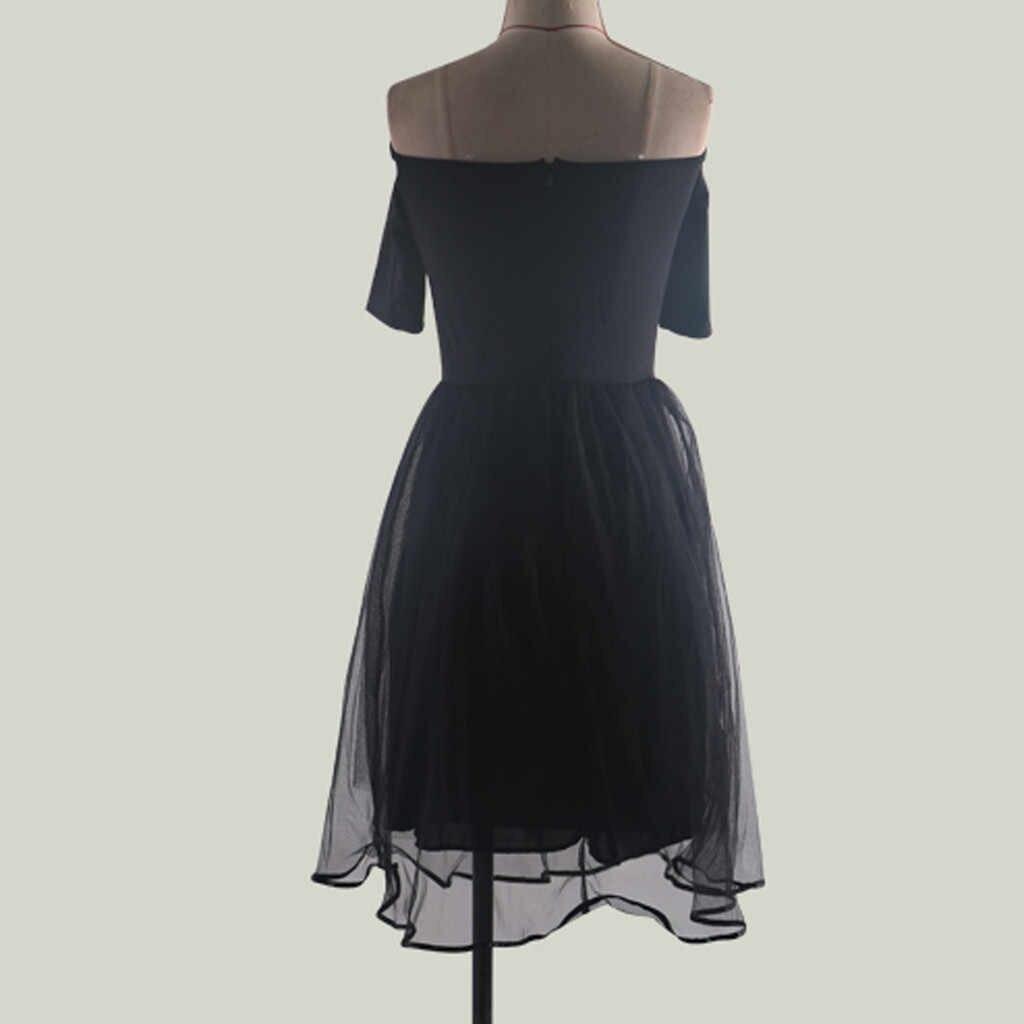 Летние Вечерние платья женские вечерние платья с коротким рукавом с открытыми плечами сексуальные подиумные платья элегантная женская одежда 2019
