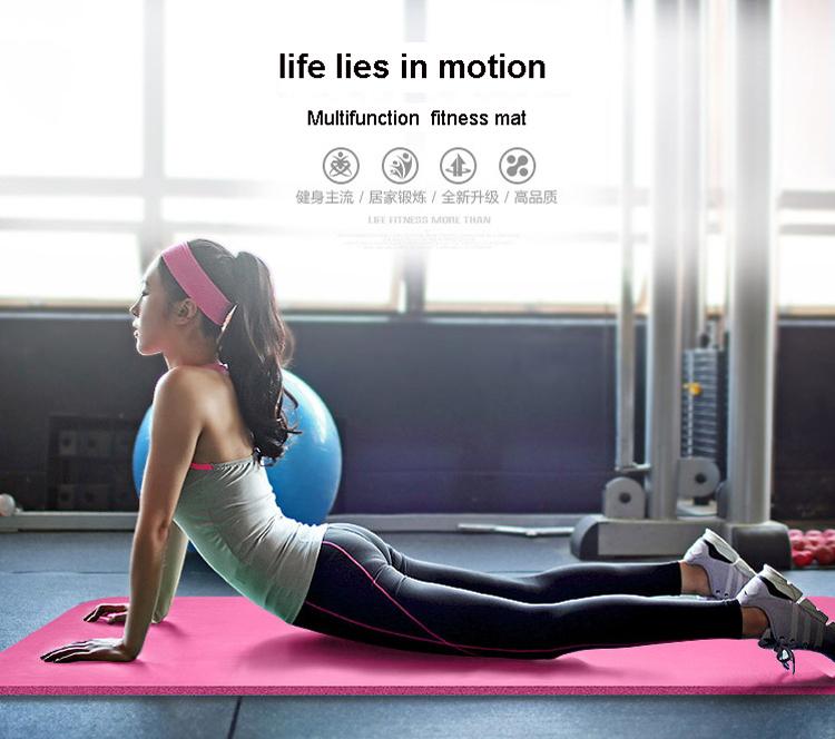 NBR Stuoia di Yoga 10mm di Spessore Esercizio Fitness Tappetini Pad ... a4d2a16e9817