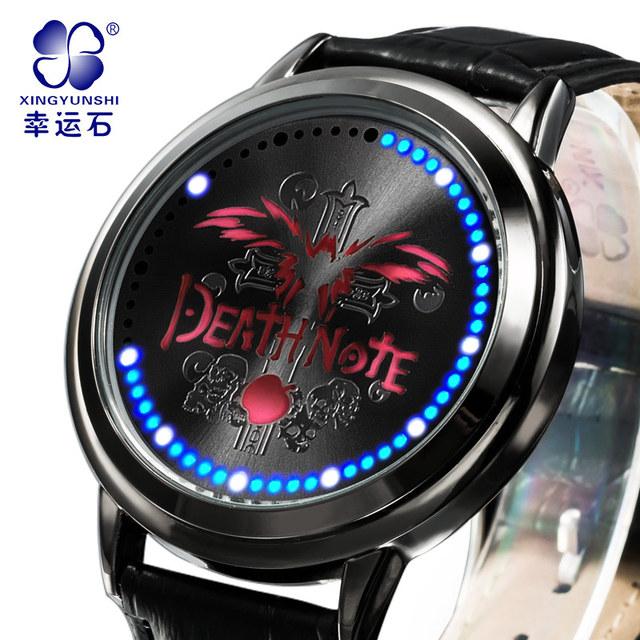 Death Note Relógio Mens Relógios Top Marca de Luxo Homens Militar Relógios De Pulso De Couro Homens Relógio Esportivo À Prova D' Água Relogio masculino