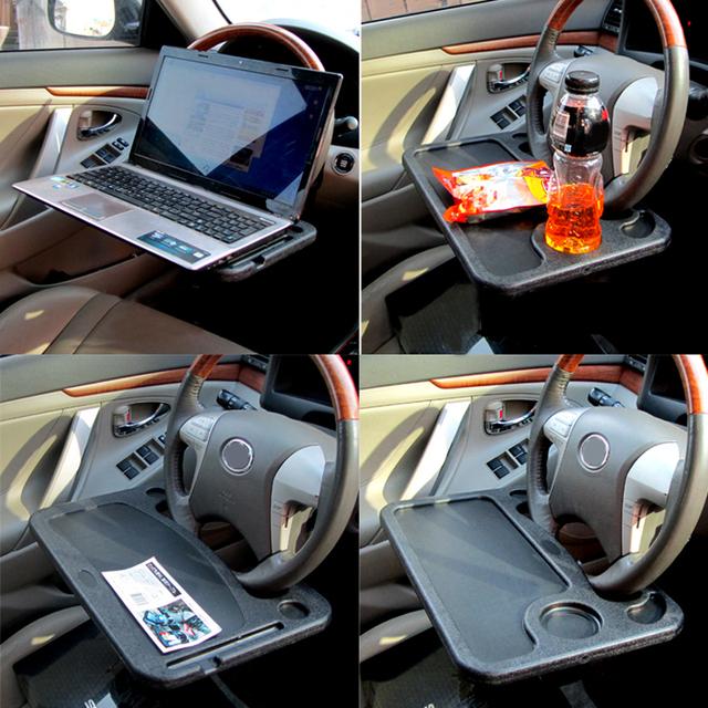 BN-C03C Volante Do Carro Auto Organizador Bandeja Mesa de Trabalho Do Computador Portátil Notebook Suporte de Mesa Desk Clipe Motorista Para Comida e Bebida