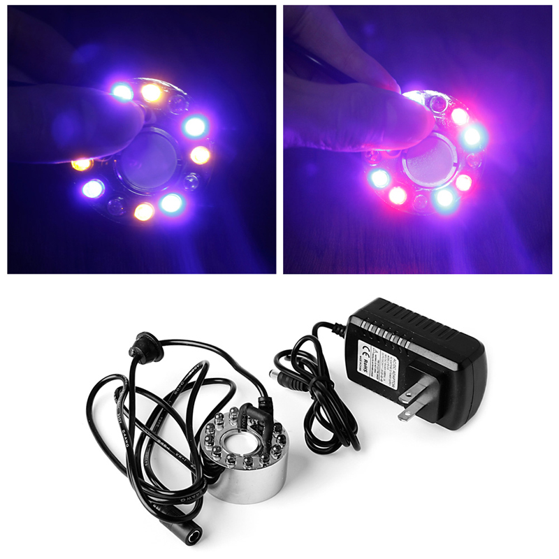 12 LED light Ultrasonic Mist Maker Fogger Water Fountain Pond Indoor Outdoor New #Y05# цена и фото