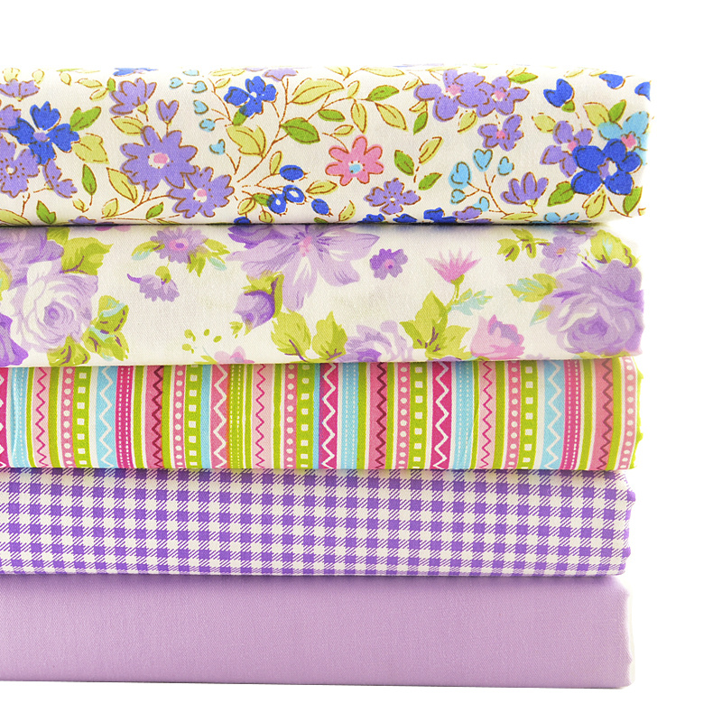 5Pcs 50x50cm Fat Quarter Fabric Bundle 100/% Cotton Quilting Patchwork DIY Craft