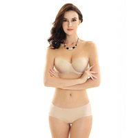 Sexy Seamless Strapless Bras For Women Invisible Bra Set Push Up Strapless For Wedding Dress Underwear