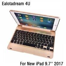 Nouveau mince pour le nouvel iPad 9.7 2017 A1822 A1823 étui de clavier sans fil Bluetooth ABS couvercle rabattable pour iPad 2017 9.7 housse de clavier