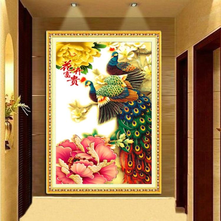 Needlework,DIY set,Flower decor stitch,