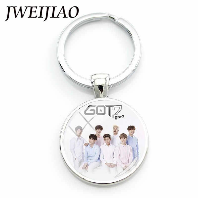 Jweijiao K-POP Got7 Ban Nhạc Album Móc Khóa JB Mark Jinyoung Phím Chụp Ảnh Nhẫn Photocard Dành Cho Người Hâm Mộ Keyrings Dây Chuyền Tặng G21