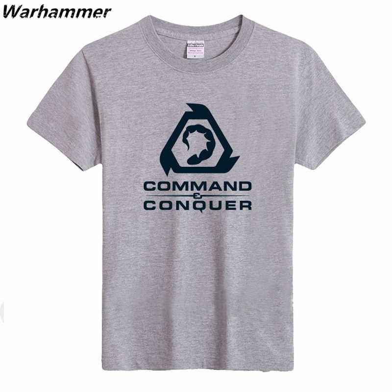 Command Conquer Мужская футболка модная Стильная летняя одежда футболка женская футболка с принтом в виде игры хлопковые футболки с круглым вырезом и коротким рукавом S-3XL