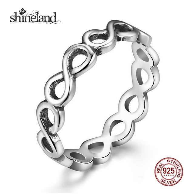 Shineland Fashion Infinity Symbol Stackable Statement Ring For Women