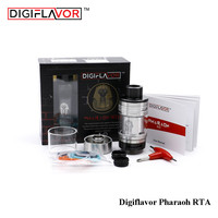 100 Original Digiflavor Pharaoh RTA Electronic Cigarette Atomizer 4 6ml Vape Tank Rebuilable 25mm Airflow Control