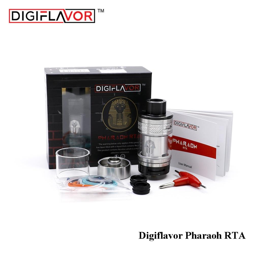 Original Digiflavor Pharaoh RTA E-Cig <font><b>Atomizer</b></font> 4.6ml Vape <font><b>Tank</b></font> rebuilable 25mm airflow control DIY vapor with glass tube