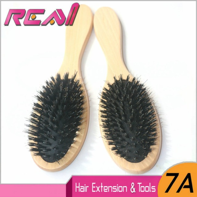 1 Piece Boar Bristle Hair Brush Varnish Bristle Hair Extensions