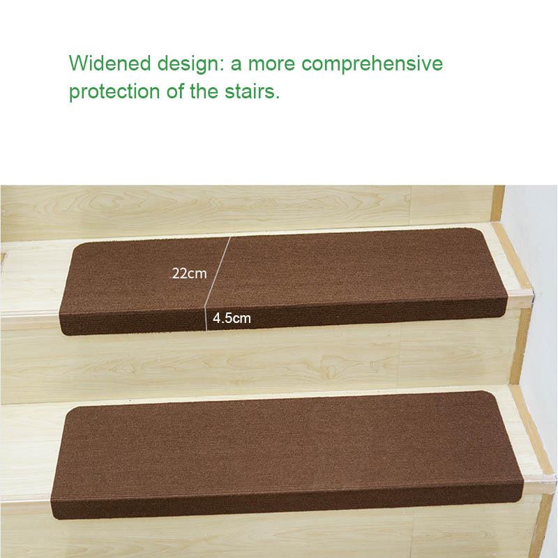 Self-adhesive Stair Non-slip Mute Mat Stair Floor Mats Safety Children Carpet Home Decor TB Sale
