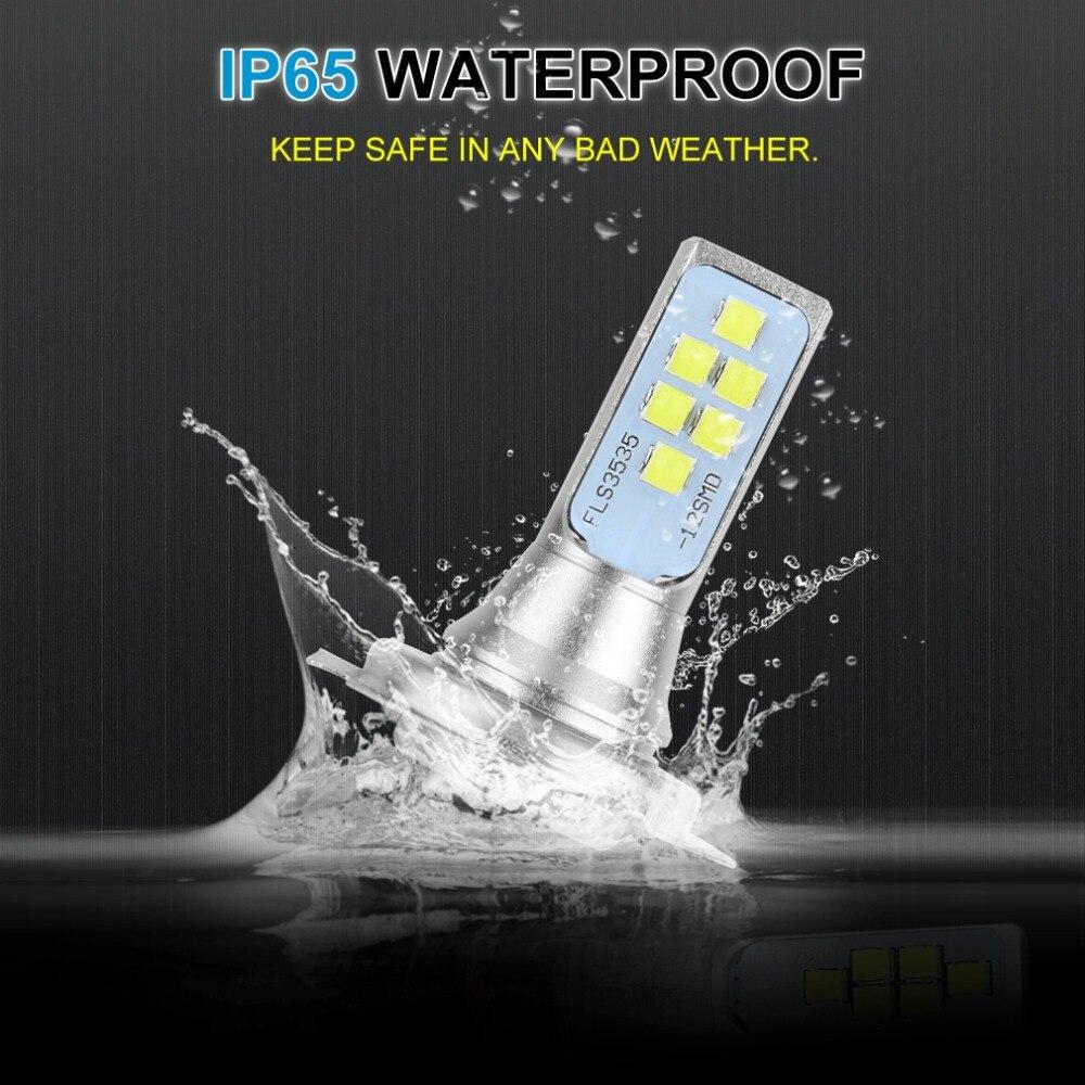 2Pcs H7 LED Bulb Super Bright 12 3535SMD Car Fog Lights 12V 24V 6000K White Driving Day Running Lamp Auto Led H7 Bulb
