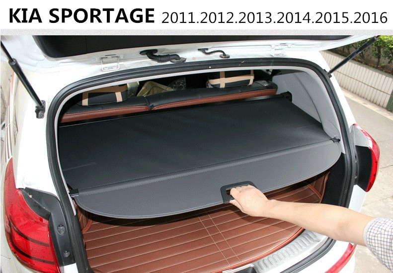 Car Rear Trunk Security Shield Cargo Cover For KIA SPORTAGE 2011.2012.2013.2014.2015.2016 HighQuality Trunk Shade Security Cover